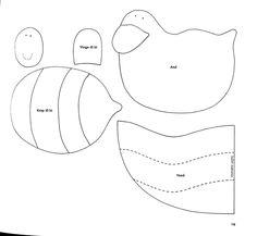 Moldes Para Artesanato em Tecido: Babadores de Pano