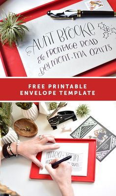 @tiny_prints Holiday cards PLUS a free printable address template for your envelopes!
