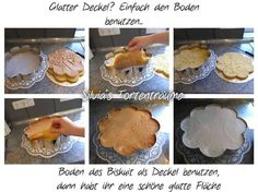 Silvia's Tortenträume:  Torte glatter Deckel Kuchen eben Tutorial Anleitung