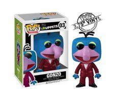 Cabezón Los Teleñecos. Gonzo, POP Muppets, Funko