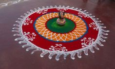 Rangoli, Colorful, Indian, Festival