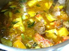 Our nights are refreshingly cool, yet the garden is still producing. This is perfect weather for warming harvest soups. At least I think so! Make use of your crockpot to cook beef until tender, then combine with flavorful and colorful summer vegetables. I have been serving grain-free almond bread on the side.