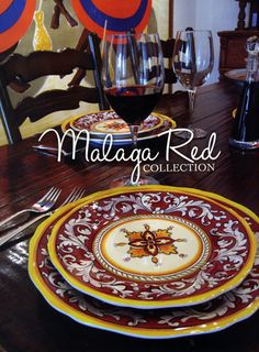 Le Cadeaux Malaga Red Dinnerware