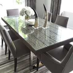 Love our #modern Henley Dining table with these #tailored Oliver Dining Chairs…