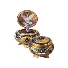 San Francisco Music Box Anastasia Alexandra & Nicholas Hinged Trinket Box < + more collectible music boxes. Fab way to present a special jewelry gift or enclose a love letter.