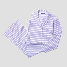 """""""I could live in these pajamas! The satiny pima cotton feels like you're wearing nothing, and when was the last time you saw genuine mother-of-pearl buttons?""""--Oprah"""
