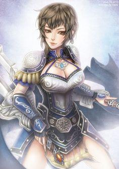 Beautiful anime artbook from Dynasty Warriors uploaded by sanada - Wang Yi Sengoku Musou, Sengoku Basara, Dynasty Warriors, Warrior Girl, Epic Art, Fantasy Character Design, Fantasy Characters, Asian Art, Unique Art