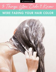 It's hard seeing the perfect hair color fade right before your eyes. The reason it may be fading could be from one of these 5 things! Find out which one you might be doing and how to fix it!