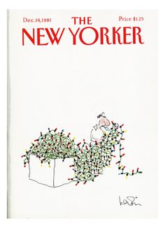 The New Yorker Cover - December 14, 1981 Giclee Print by Arnie Levin at Art.com