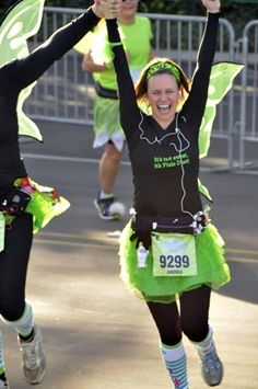 How I got into running blog post (Tinkerbell Finish Line)