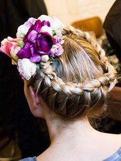 Sophia Webster Braided Crown with Flowers