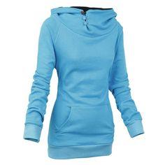 Stylish Front Pockets Solid Color Long Sleeve Women's HoodieSweatshirts & Hoodies | RoseGal.com