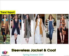 Sleeveless Jacket and Coat Trend for Spring Summer 2015.Dries Van Noten, Christian Dior, Christophe Lemaire,Alberta Ferretti, Sonia Rykiel, and Opening Ceremony#Spring2015 #SS15