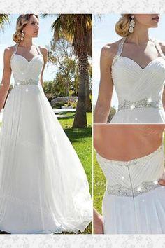 Wedding Dresses Backless #WeddingDressesBackless, Wedding Dresses 2018 #WeddingDresses2018, A-Line Wedding Dresses #ALineWeddingDresses, White Wedding Dresses #WhiteWeddingDresses