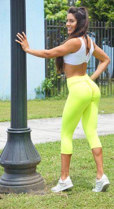 d21f20d790e2 Top Rio ShopBooty Lift Leggings · Brazilian Workout Capri Pants - Scrunch  Booty Lift! Neon Yellow Brazilian Workout