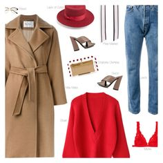 """""""Something Easy"""" by amberelb ❤ liked on Polyvore featuring Lack of Color, Levi's, Gucci, Charlotte Olympia, MaxMara, Retrò and Monki"""