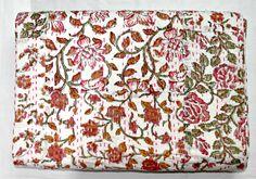 Valentine+Gift+Patchwork+Kantha+Quilt+In+White+by+JaipurHandloom,+$49.99