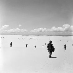 French paratroopers in Quang Tri, Annam region, Indochina. July 1953.