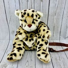 Leopard back pack women's Girls Ladies Animal Travel School Holiday Bag New School Holidays, Sacks, S Girls, Tigger, My Ebay, Teddy Bear, Backpacks, Disney Characters, Lady