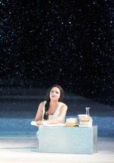 Anna Netrebko como Tatiana en Eugene Onegin (Chaikovksi), Wiener Staatsopern