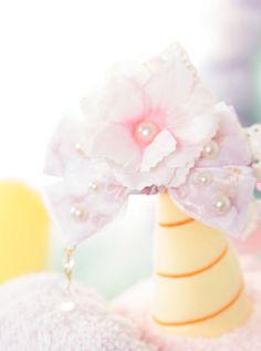 Pink Handwork Moe Gothic Lace Lolita Cute Hair Accessories Hats Wild Cap Summer