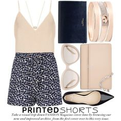 how to wear printed shorts 2