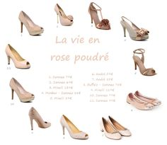 Chaussures rose poudré #wedding #shoes #chaussures de #mariee #weddingshoes #chaussuredemariee