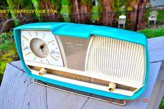 SEAFOAM Green Wonder Mid Century Retro Jetsons Philips Time-Mark AM Vacuum Tube Radio Works! by RetroRadioFarm on Etsy
