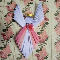 Quilled Angel Ornaments by HeirloomQuilling on Etsy, $25.00