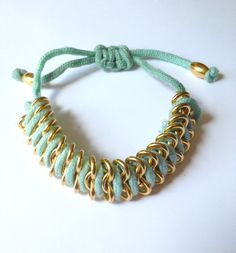 Mint Green Fishtail Bracelet.