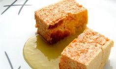 Receta de Pastel de calabaza con crema de puerros