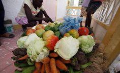 Fresh vegetables in Jacmel, Haiti Hope For Haiti, Haitian Food Recipes, Fresh Vegetables, Down Hairstyles, Farmers Market, Street Food, Cabbage, Culture, Beautiful