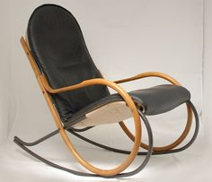 Nonna rocking chair from the seventies by Paul Tuttle for Strässle