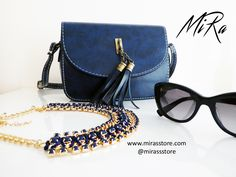 💙 Mystique bag👛 and Annabelle necklace🎀 💙 www.mirasstore.com @mirassstore