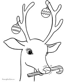 Christmas Reindeer Coloring Pages!