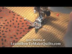 Step 6:  How to Quilt:  Machine quilt, Hand Quilt, or Tie your Layers Together