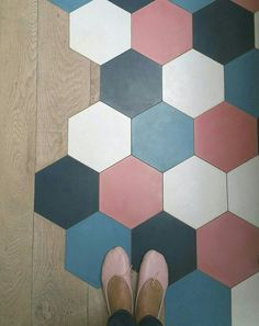 #ihavethisthingwithfloor Tile To Wood Transition, Hexagon Tiles, New Homeowner, Laundry Room Design, Cuisines Design, Home Reno, Cool Rooms, Tile Design, Home Living Room