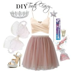 DIY Tooth Fairy Costume by ayemyree on Polyvore featuring J.TOMSON, Chicwish, Bling Jewelry and Oral-B
