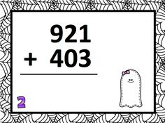Halloween 3-Digit Addition w/ Carrying Task Card Set