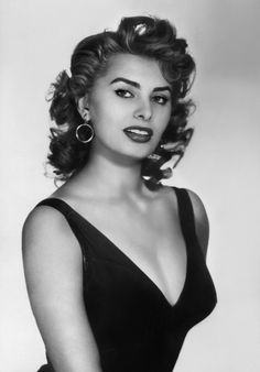 Sophia Loren in the 1950s.