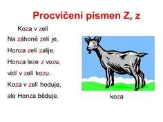 Procvičení písmen Z, z Koza v zelí Na záhoně zelí je,> Ecards, Logo, Memes, Movie Posters, E Cards, Logos, Meme, Film Poster, Billboard