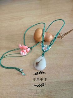 http://www.shougongke.com/course/450226.html Macrame Jewelry Tutorial, Diy Jewelry, Diy Necklace, Washer Necklace, Hair Accessories, Stone, Drop Earrings, Diy Crafts, Pendants