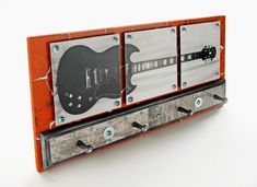 Edgy and easy project for your little rock star! Guitar Coatrack @Christopher S. @Abby Vine