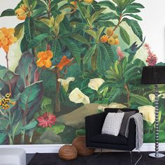 Jungle Lounge wall art from Mr Perswall LOVE THIS FOR LIVING ROOM!!!