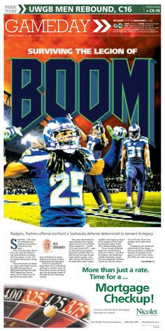 News design: Jan. 18 Green Bay sports cover illustration.