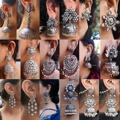 Best sellers of jhaanjhariya, swipe to see clear pictures ❄️ ! to place your order what's app at 9015877792 or dm us ! go buy yours and… Indian Jewelry Earrings, Indian Jewelry Sets, Silver Jewellery Indian, Jewelry Design Earrings, Indian Wedding Jewelry, Ear Jewelry, Bridal Jewelry, Silver Jewelry, Fashion Earrings