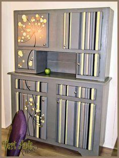 Idées de relooking - transformation de meubles - Avant Après - décaper un meuble métal - Rue des Relookeurs