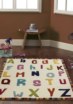 nuLOOM Hand-carved Kids Alphabet Multi Wool Rug x - Overstock Shopping - Great Deals on Nuloom - Rugs Childrens Room Decor, Baby Room Decor, Kids Decor, Home Decor, Cool Room Designs, Kids Area Rugs, Green Color Schemes, Alphabet For Kids, Nursery Rugs