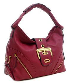 Love this Red Buckle Hobo Bag on #zulily! #zulilyfinds