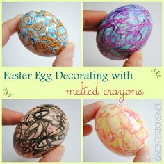 Create colorful EASTER EGGS using Melted Crayons.  It's easy to do + KIDS will LOVE it. Read the tutorial now or Pin for Later! Easter 2018, Easter Party, Crayon Crafts, Melted Crayons, Coloring Easter Eggs, Boiled Egg, Hard Boiled, Easter Projects, Easter Activities